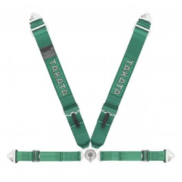 Takata Racing Harness RACE 4-Point Green Snap-on