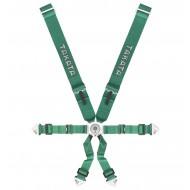 Takata Racing Harness RACE 6-Point Green Snap-on